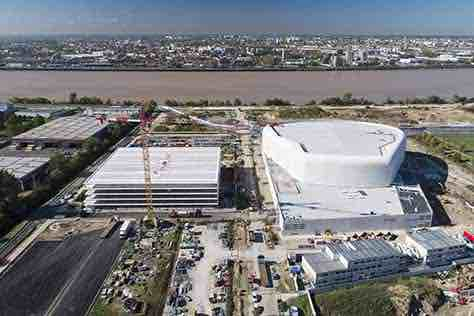 arena metropole drone photo video bordeaux