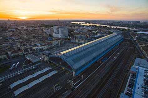 sncf gare société  drone photo video bordeaux